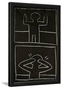 Haring - Subway Drawing Untitled - 20 by Keith Haring