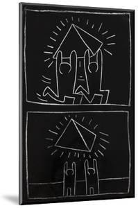 Haring - Subway Drawing Untitled - 32 by Keith Haring