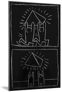 Haring - Subway Drawing Untitled - 32 by Keith Haring