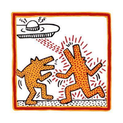 Haring - Untitled October 1982 Broad Foundation by Keith Haring