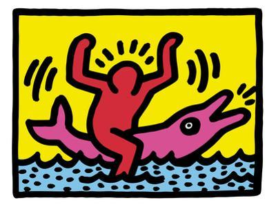 Pop Shop (Dolphin Rider) by Keith Haring