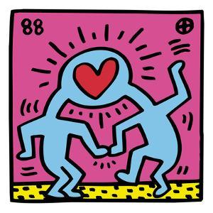 Pop Shop (Heart) by Keith Haring