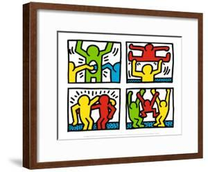 Pop Shop Quad I, c.1987 by Keith Haring