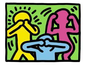 Pop Shop (See No Evil, Hear No Evil, Speak No Evil) by Keith Haring