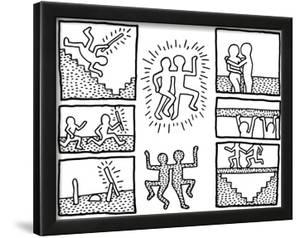 Keith haring drawings and comic strips haring collection artwork the blueprint drawings 1990 by keith haring malvernweather Image collections