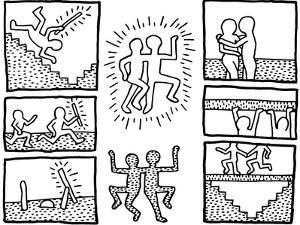 Keith haring drawings and comic strips haring collection artwork the blueprint drawings 1990keith haring malvernweather Images