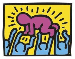 Untitled, 1989 (baby) by Keith Haring