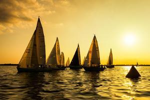 Sailboats Race, a Seasonal Race Held Every Tuessday Evening During the Summer by Keith Homan