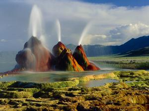Fly Geyser In the Black Rock Desert, Nevada, USA by Keith Kent