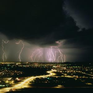 Lightning Storm Over Tucson, Arizona by Keith Kent