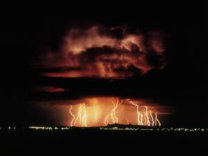 Thunderstorm At Night Near Tucson by Keith Kent