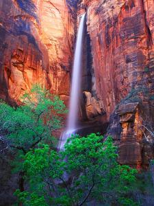 Heavy Spring Run Off Creating a Seldom Seen Waterfall in Zion National Park by Keith Ladzinski