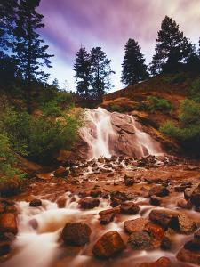 Helen Hunt Falls at Sunset, North Cheyenne Canyon Park, Colorado Springs by Keith Ladzinski