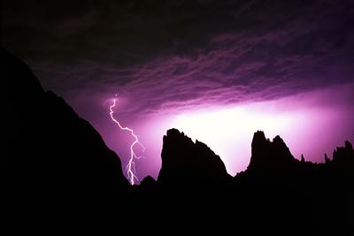 Lightning Strike in Garden of the Gods, Colorado