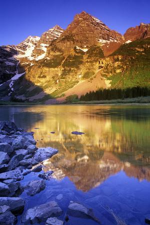Maroon Bells and Crater Lake, White River National Forest, Colorado