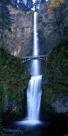 Multnomah Falls with Bridge, Oregon by Keith Ladzinski