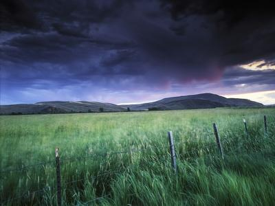 Spring Storm over a Field, Gunnison, Colorado
