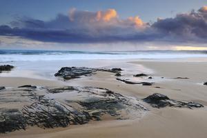 Sunset on Beach Near Melbourne, Australia by Keith Ladzinski