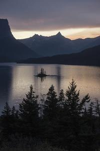 Sunset over Saint Mary's Lake in Montana's Glacier National Park by Keith Ladzinski
