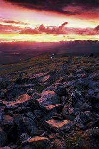 View of Sunset at Cottonwood Pass, Colorado by Keith Ladzinski