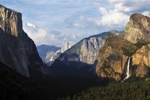 View of Yosemite Valley with Bridalveil Fall, Yosemite National Park, California by Keith Ladzinski