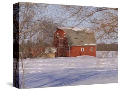Barn and Snow Scene, Gimli, Manitoba