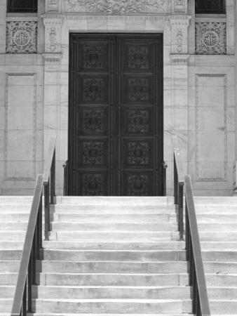 Public Library in Black and White, New York City