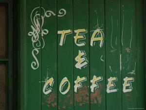 Tea and Coffee Sign, London, England by Keith Levit