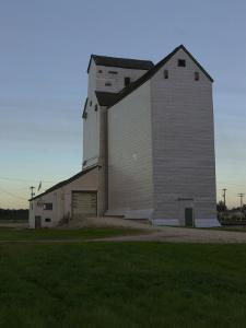 White Barn, Manitoba Prairie by Keith Levit