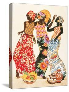 Beautiful African Figurative canvas artwork for sale, Posters and