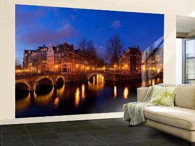 Keizergracht Canal, Leidsegracht Canal, South Holland, Amsterdam, Netherlands-Jim Engelbrecht-Wall Mural – Large