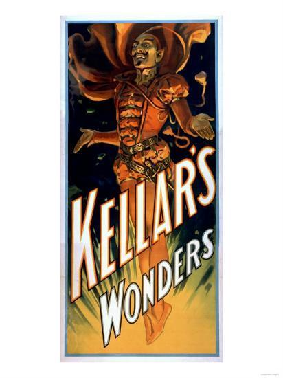 Kellar's Wonders Dressed like Devil Magic Poster-Lantern Press-Art Print