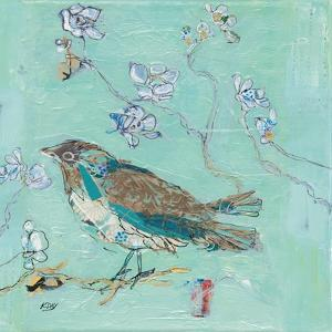 Aqua Bird with Teal by Kellie Day