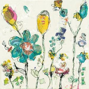 Doodle Garden Cream by Kellie Day