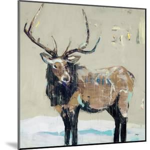 Winter Elk Neutral by Kellie Day