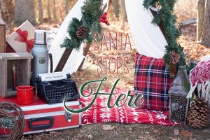 Santa Stop Here by Kelly Poynter