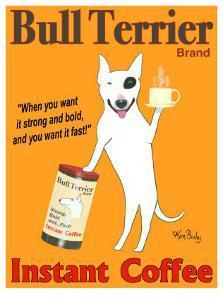 Bull Terrier Coffee by Ken Bailey