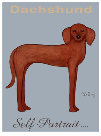 Dachshund Self-Portrait by Ken Bailey