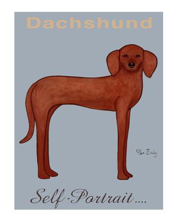 Dachshund Self-Portrait by Ken Bailey