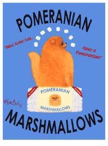 Pomeranian Marshmallows by Ken Bailey