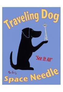 Traveling Dog - Space Needle by Ken Bailey