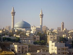 Abdullah Mosque and the Amman Skyline at Dusk, Jordan, Middle East by Ken Gillham