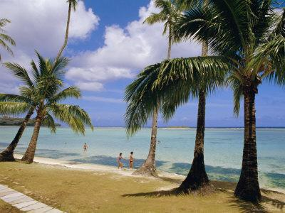 Beach at the Dai Ichi Hotel, Guam, Marianas Islands