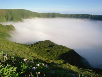 Cloud in Crater, Caldeira, Faial, Azores, Portugal, Europe