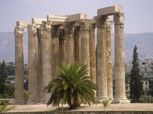 Corinthian Columns of the Temple of Zeus Dating from Between 174 BC and 132 AD, Athens, Greece by Ken Gillham