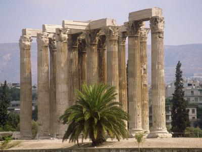 Corinthian Columns of the Temple of Zeus Dating from Between 174 BC and 132 AD, Athens, Greece