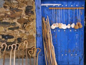El Camino Pilgrimage to Santiago De Compostela, Scallop Shells and Walking Sticks, Galicia, Spain by Ken Gillham