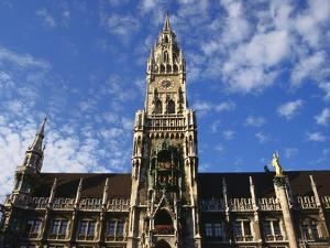 Exterior and Clock Tower of the Neues Rathaus, Munich, Bavaria, Germany by Ken Gillham