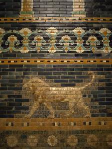 Glazed Tiles of Nebuchadnezzar's Babylon, Pergamon Museum, Berlin, Germany, Europe by Ken Gillham