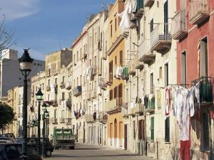 House Fronts and Laundry, Trapani, Sicily, Italy by Ken Gillham